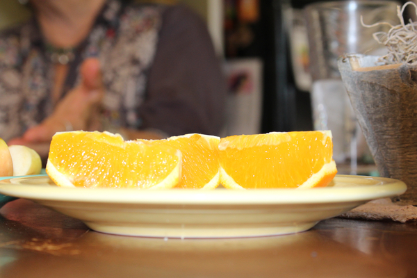 Plate of slice orange