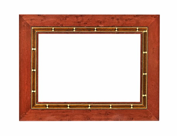 Inlaid Wood Frame: One of a series of picture frames.
