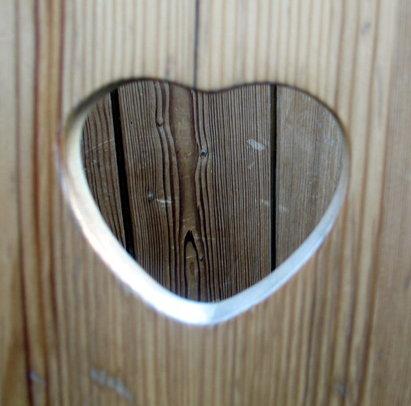 wooden heart: none