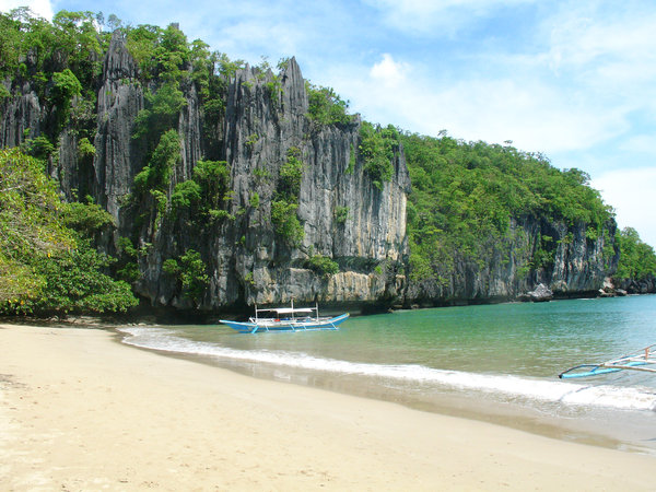 Beach: A beach in Palawan, Southwest of the Philippines.