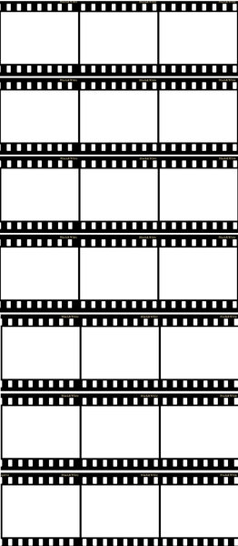 A lot of negative film strips : Frames of black&white photography film, pattern