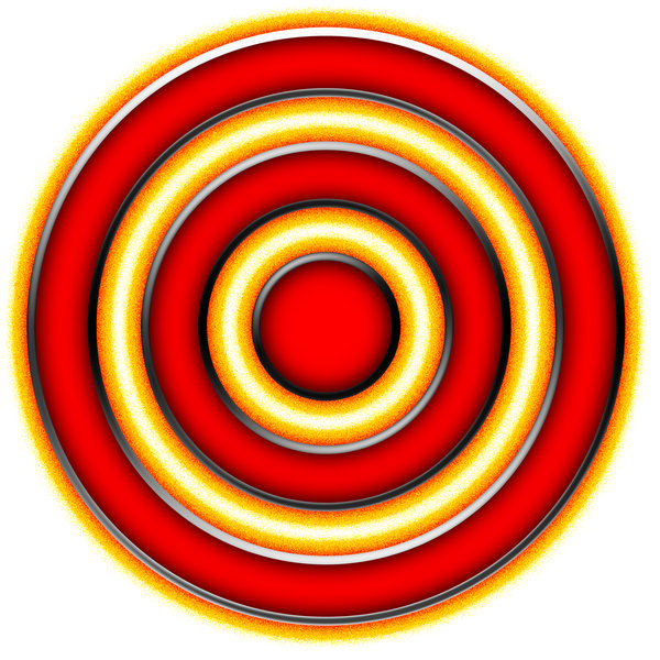 Concentric rings 4: Convergent circles