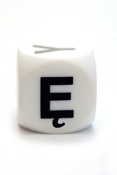 Polish character E on the cube