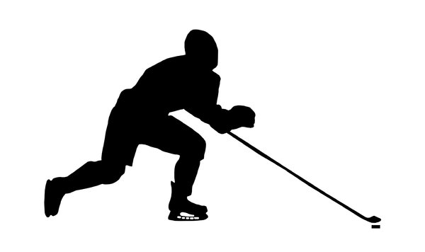 Hockey 3: Silhouette of player