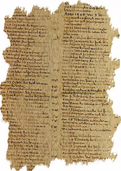 Old german scripture 5: German writting from early XVII-th century