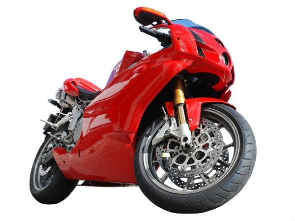Red Dream Cutout: Well, Ducati, I guess it speaks for itself. This is a cutout version of a previously submitted photo. Used it for training isoaltion work. THe isolation was completely manual using a white brush with width varying between 1-20 pixels near the bike. The wo