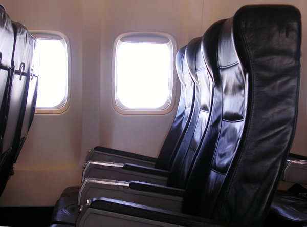 Empty Seats 2: Empty seats on an almost empty plane.