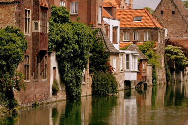 Bruges Houses on Canal