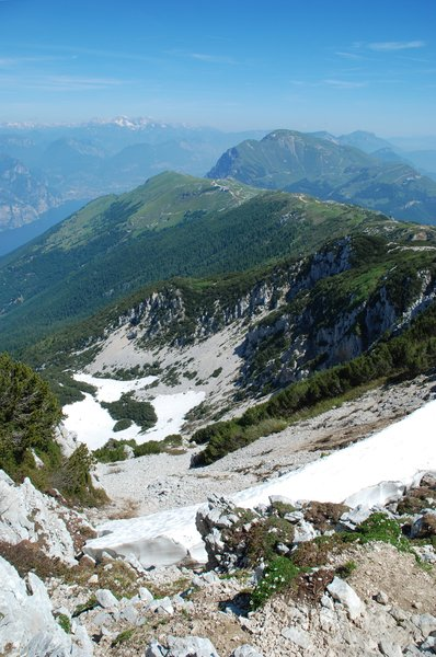 Summer Mountains: View from Monte Baldo, Italy.