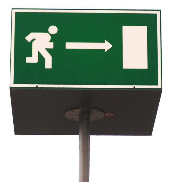 Emergency road sign: Escape! Run for your life! If you use this, please let me know.