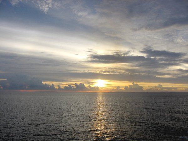 Long March: Clouds plodding along, Malacca Straits, SE Asia