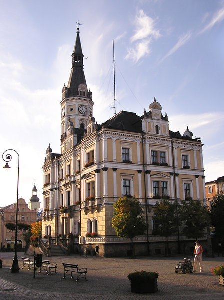A town hall in Ladek Zdroj: A town hall building in Ladek Zdroj (Renaissance Revival).
