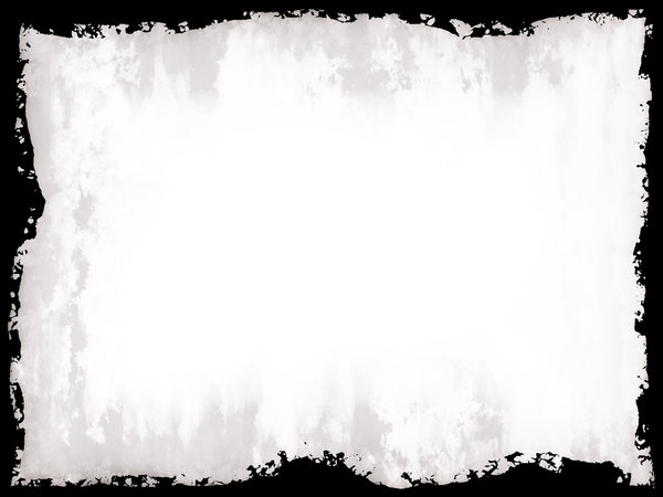 White Grunge Banner: A white grunge background with messy border. Useful banner, texture, cover, etc.