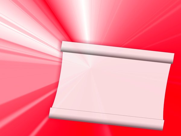 Red and White Banner 1: Abstract red background with blank white area for text. Can be used as a sign, banner or invitation.