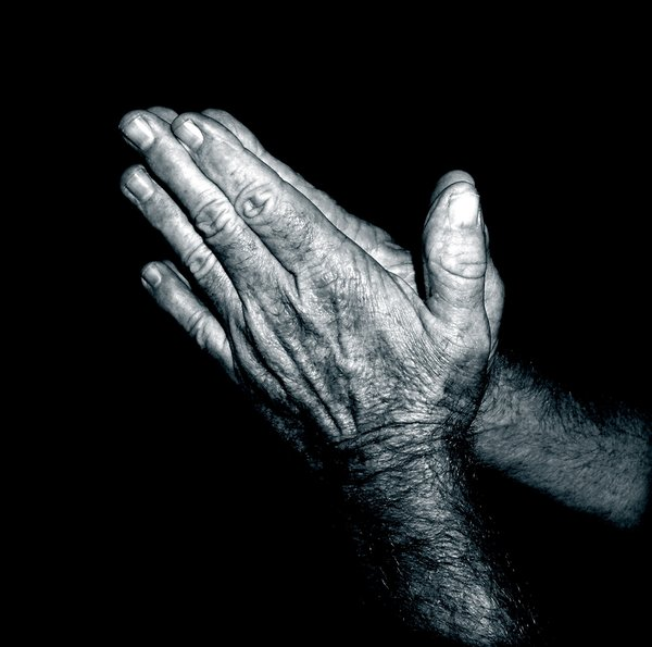 Praying Hands - Duotone:
