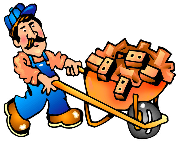 Worker: Cartoon Construction Worker. Visit me at Dreamstime: 