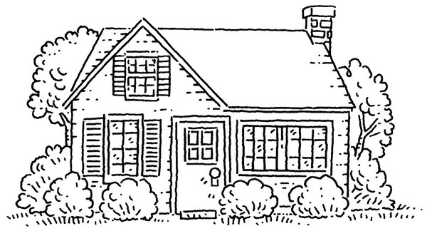 House: Very simple stylized drawing of a house.Please visit my stockxpert gallery:http://www.stockxpert.com ..