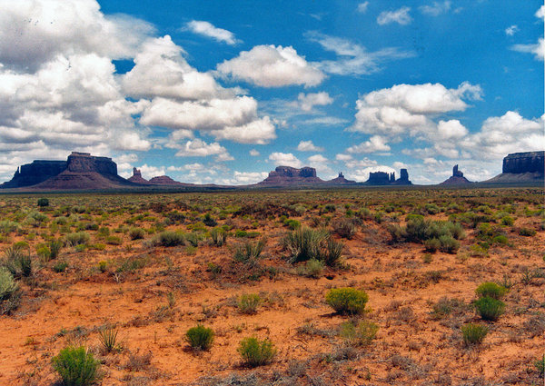 monument valley 5: landscape of monument valley after the rain