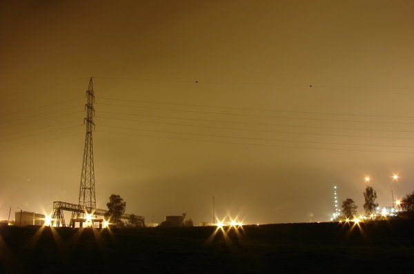 By night : an oil facility: A detail of the Total oil facility, Seneffe, Belgium. RATE THIS PIC IF YA DOWNLOAD IT, THANKS !