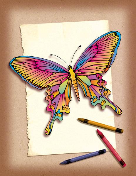 Хенд мейд бабочка