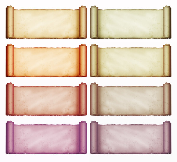 Scroll Variations: A vintage scroll in various colours.Please visit my stockxpert gallery:http://www.stockxpert.com ..