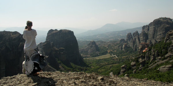 Photographer in Meteora region