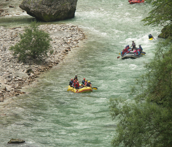 Rafting on river Salza