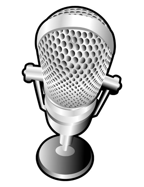 Platinum Mic: Old-time Microphone