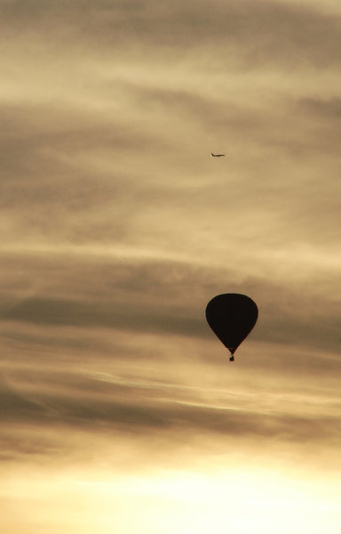 balloon at dusk 2