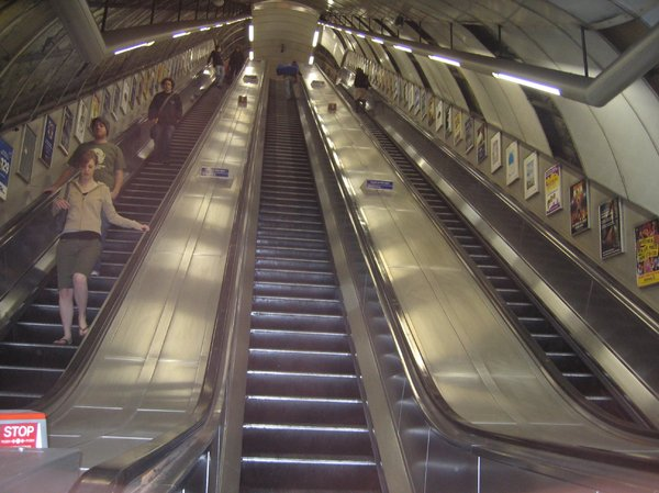 very long escalator
