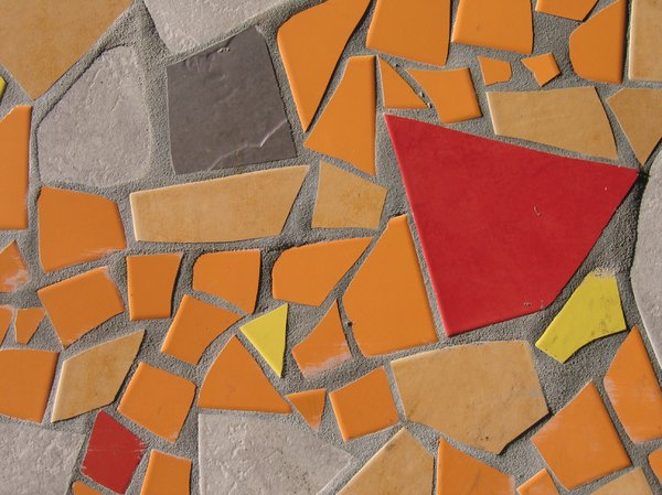 abstract orange tiles texture
