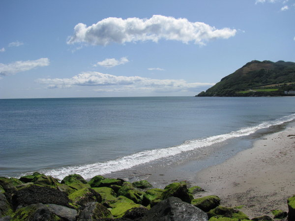 Irish Sea: Some pictures of the beach at Bray, Ireland. We were told the water would be too cold to swim in- but it was much warmer than the mountain lakes we swim in!