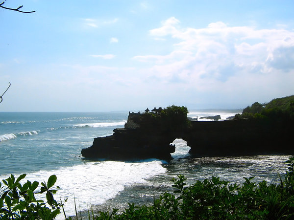 Coastline with Balinese temple