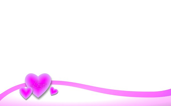 Valentine Background 3: A Valentine border and background with pink hearts.