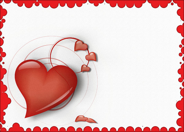 Valentine's Day Card: For scrapbook vector art