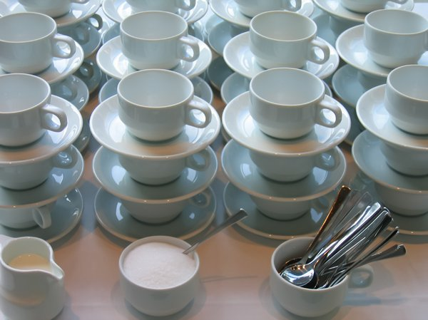 catering - coffee: catering - lots of coffee cups