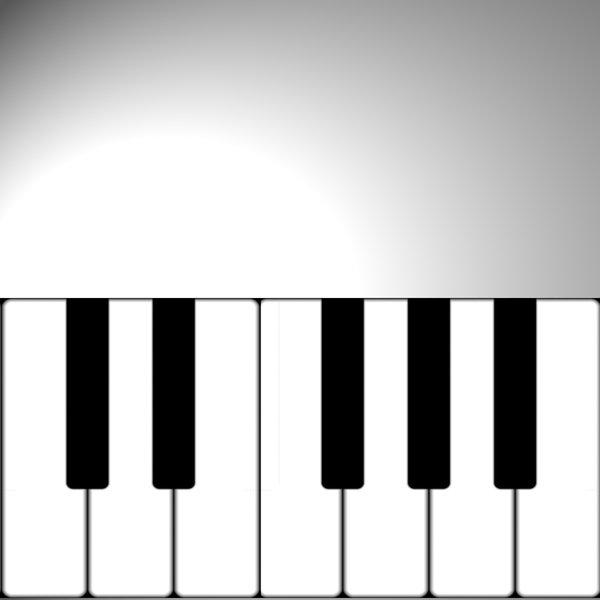Music Poster: A keyboard with copyspace makes a great background for a music or concert poster.