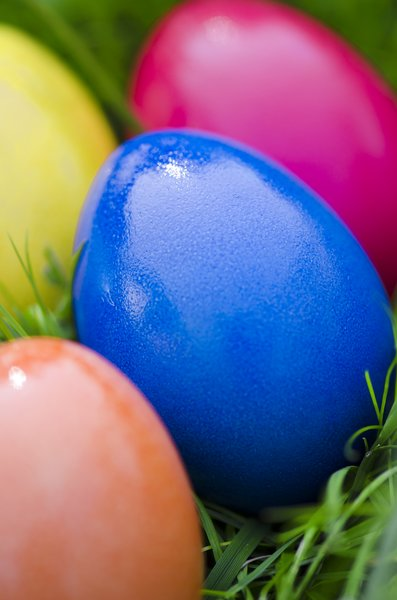 Easter eggs: Colorful Easter eggs