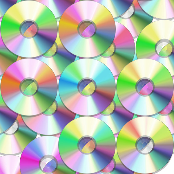 DVD or CD 3: Lots of DVDs or CDs, with reflected colours and light. This would make a great backdrop or texture.