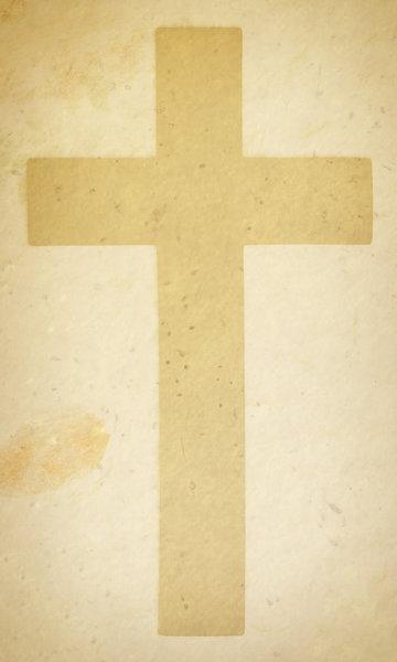 Cross Papier: A Christian cross on a vintage papier texture.