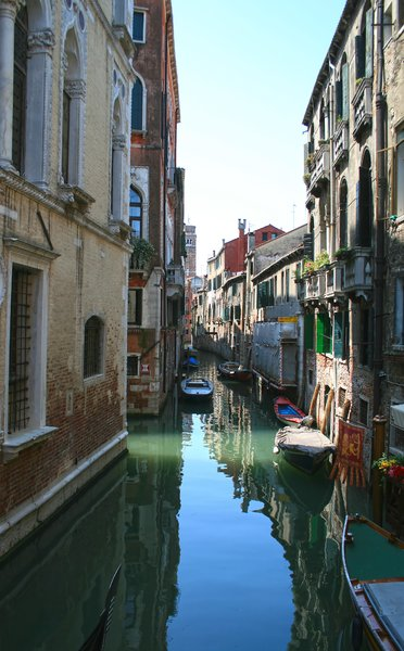 Venice backwater: A minor canal in Venice.
