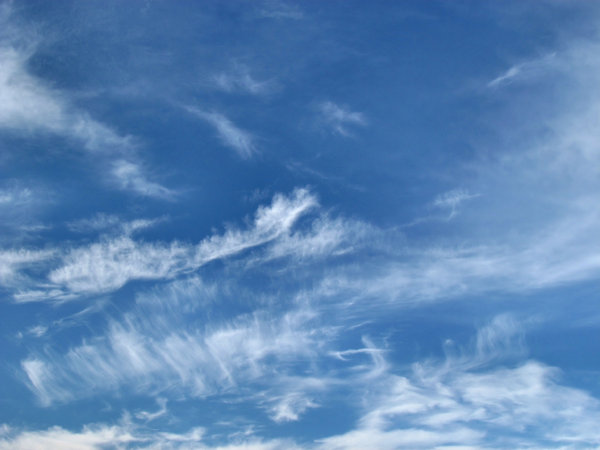 cloud messages in the sky: fine light thin cloud formations