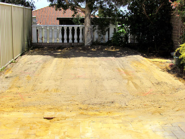 groundwork2: compacted sand pad prepared for concrete work