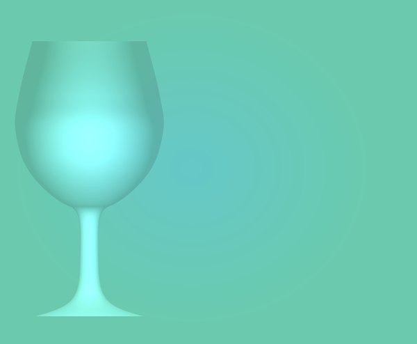 Wineglass Border 5: A teal backdrop with a wineglass outline on one side.