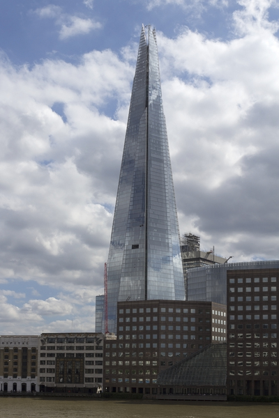 The Shard: The Shard as seen from the River Thames, London, England. 