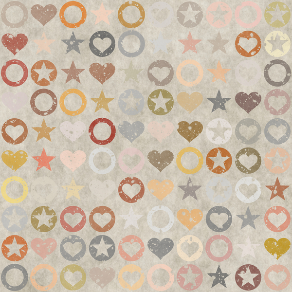 Grungy Stamp Pattern 3: A stamped pattern of hearts in great earthy colours, circles and stars. Very high resolution. You may prefer:  http://www.rgbstock.com/photo/nL9lzF0/Sepia+Pattern  or:  http://www.rgbstock.com/photo/nTrbdjW/Grungy+Stamp+Pattern