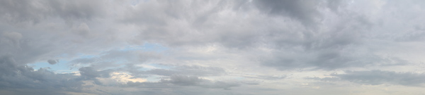 Huge Cloudy Sky: This is the pano of the cloudy sky above the ocean coast in Thailand