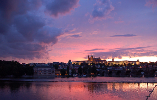 Sunset in Prague 3