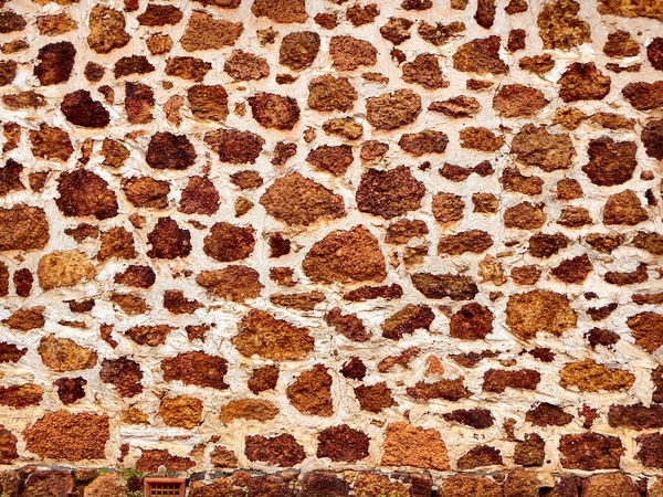 rocky rural wall1: rural historic rough stone wall