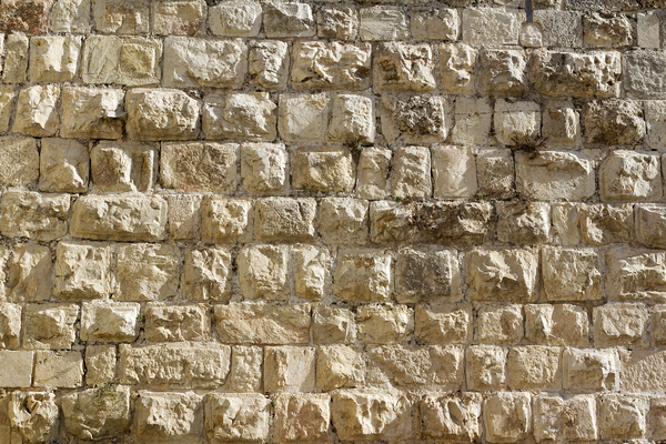 Jerusalem wall texture: Part of the ancient wall of the Old City of Jerusalem.